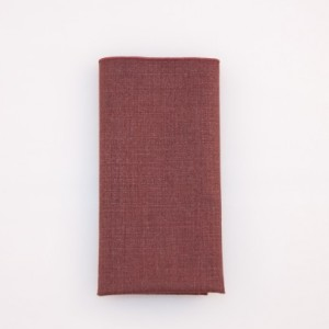 Pocket Square - Burgundy - 100% Silk