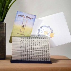 Folded Book - Card Holder - Recycled Book - Upcycled
