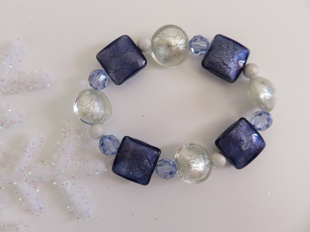 Violets in the Snow Bracelet