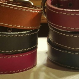 Unisex personalized leather buckle bracelet