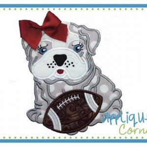 Bulldogs Football Fan Shirt, Dawgs, Bulldog with Football Appliqué Shirt or Bodysuit, Puppy Shirt