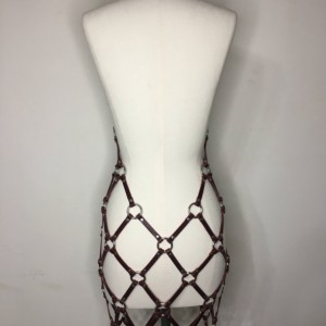 Leather Net Harness Dress