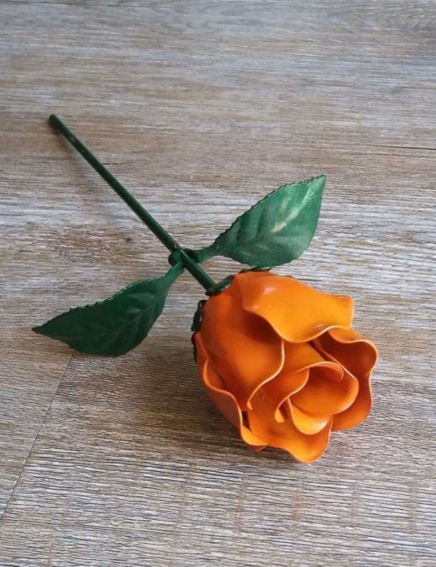 Orange Steel Rose