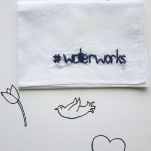 Funny Bridesmaid Gift Hashtag Wedding Hanky Print Waterworks Handkerchief by wrenbirdarts