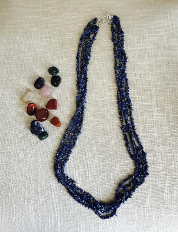 Natural Lapis Lazuli 4 Layered Necklace
