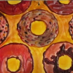 Donut - Modern Encaustic Wax Art