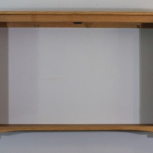 "60"" Wall mounted TV Cabinet, Mission/Arts and Crafts Style"