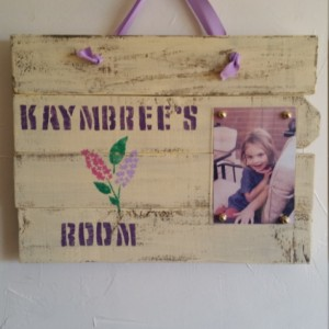 Rustic, handmade wooden picture frame for little girl's room