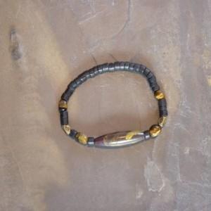 Agate Gold Swirl Bracelet