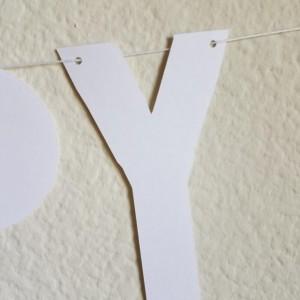 White Happy Birthday Banner