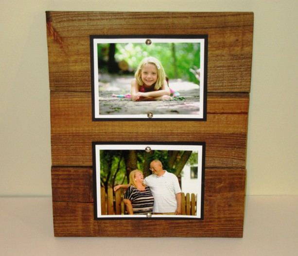 double wood picture frame 5x7 picture frame rustic picture frame double 5x7 wood - Double 5x7 Frame