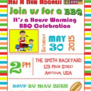 BBQ Invitations, Housewarming Invitation, Invitations, Birthday, BBQ