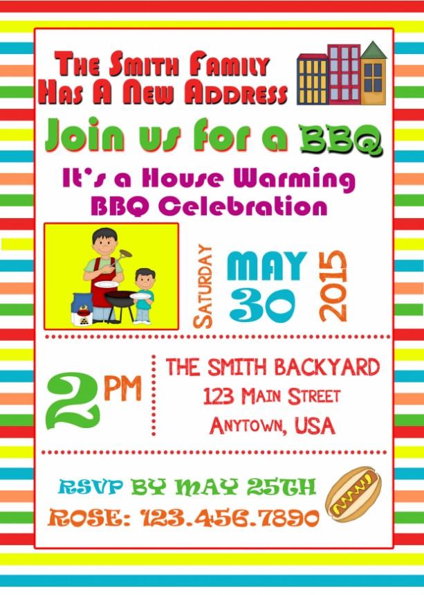 BBQ Invitations, Housewarming Invitation, Invitations, Birthday, BBQ