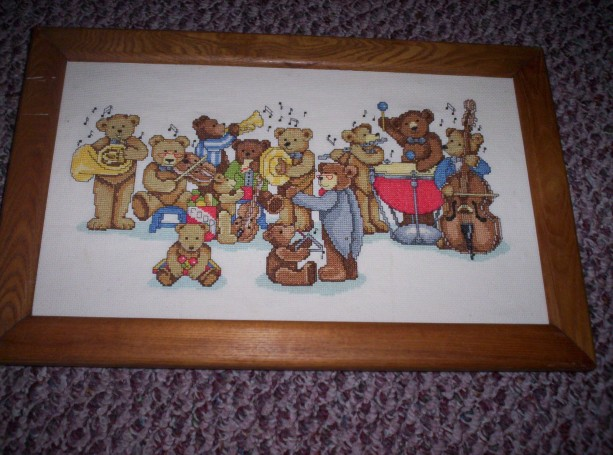 Bear Band Cross Stitch picture