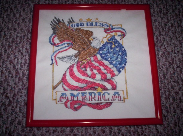 Stamped cross stitch pictures