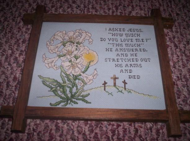 REligious cross stitch picture