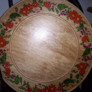 larger wooden plate