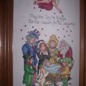 Reason for the Seasons Cross stitch picture