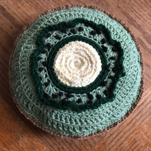 Crochet Kiwi Slice Plushie