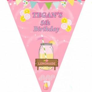 Lemonade birthday invitation, banners, printable invitation