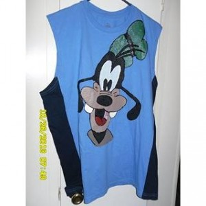 Goofy hand painted on sleeveless tshirt