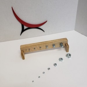 Montessori Wooden Nuts and Screw Bolts Toy  - NB102