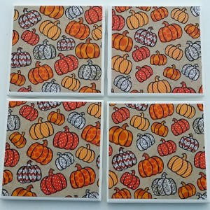 Fall Pumpkin Patch Drink Coasters