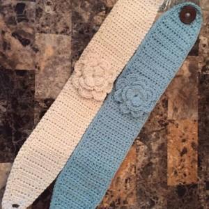 Crocheted Headband/Ear Warmer/Head Warmer with flower
