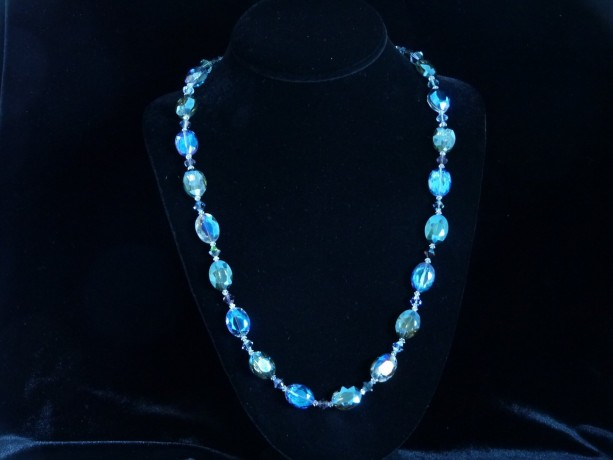 Blue Glass Sparkle Necklace