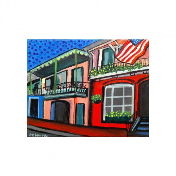 """New Orleans Victorian #1- 8""""x10"""" PRINT Signed By Artist A.V.Apostle"""