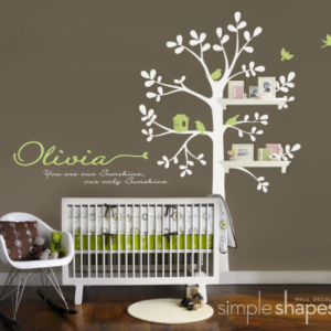Shelving Tree Nursery Wall Decal