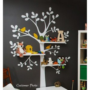 Shelving Tree Nursery Wall Decal