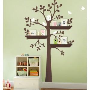 Shelving Tree Nursery Wall Decal   aftcra