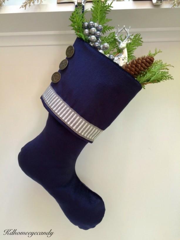 navy christmas stocking blue christmas stocking blue and silver christmas stocking blue velvet