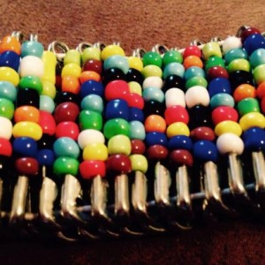 South African inspired color beaded stretch bracelet