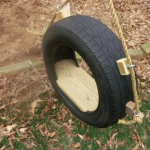 Recycled Tire Tree Swing