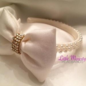 Bow, Pearl, Headband