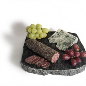 Sea Stones Solid Granite Lazy Susan (chiseled edge), Kitchen, Freezer to Table, Keep Appetizers Cold, Server