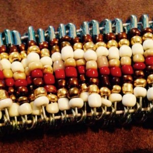 African inspired stretch beaded bracelet