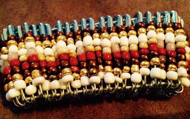 African inspired stretch beaded bracelet