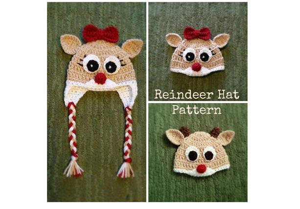 Reindeer Crochet Hat Pattern