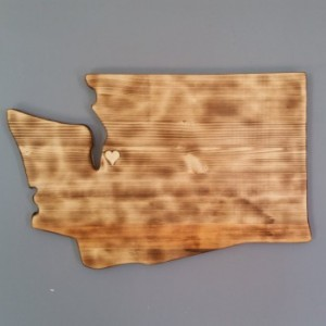 Rustic Washington State Sign/Plaque, add a heart to your loction