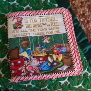 35 x 40 Handmade Reindeer Gingerbread Man Bows Green Brown Quilted Satin Binding Blanket and Soft Christmas Mouse Star Story Book