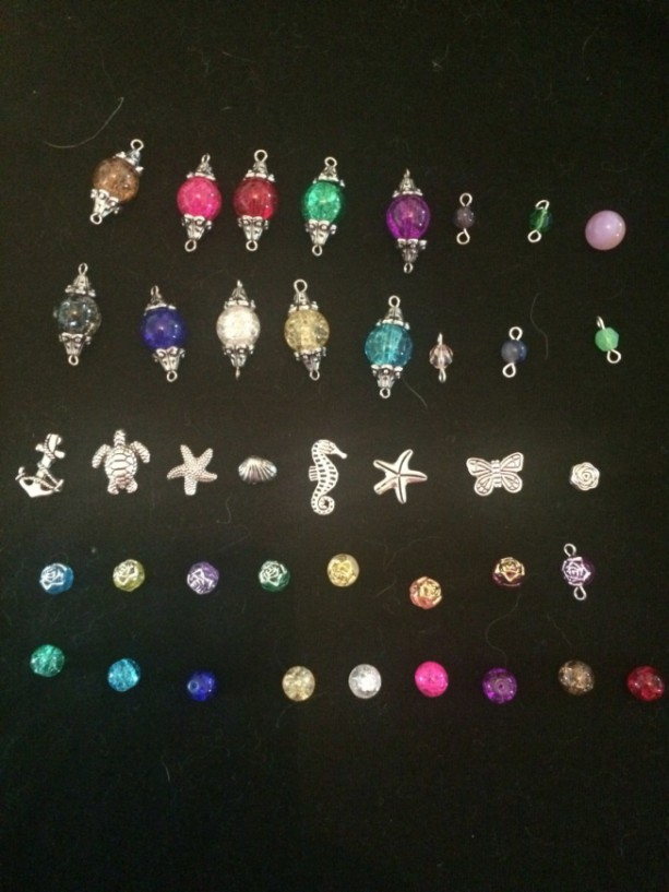 Custom Made Glass Beaded Necklace Lanyard ID Badge Clip