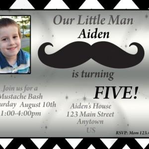 Mustache Birthday Invitation, Mustache, Invitations, Birthday