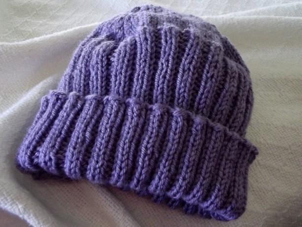 Women's Purple Knitted Hat