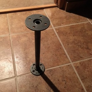 "Industrial Black Pipe Table Legs, Includes 4  Complete Table Legs-1/2"" Diameter x 36"""