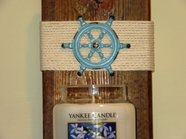 Nautical Candle Wall Sconces : Nautical Wall Sconce, Candle Holder, Candle Sconce, Rustic wall s aftcra