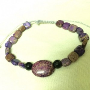 Purple adjustable bracelet