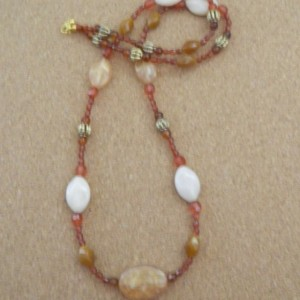 Long Peach Necklace